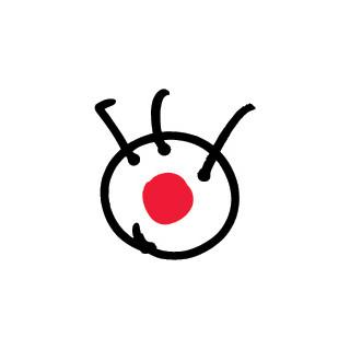 乳首がフジテレビのロゴみたいなやつwww